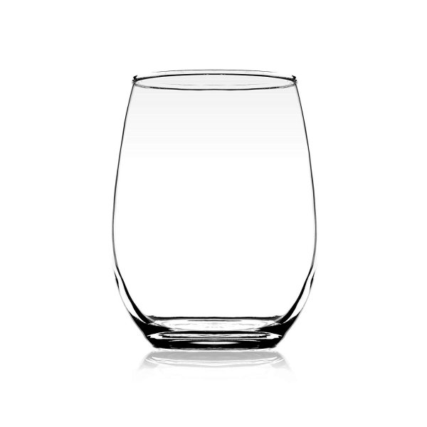 Femora Clear Glass Scotch Water Juice Wine Tumbler - 320ML, Set of 4