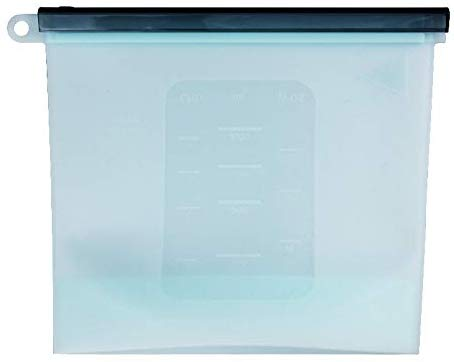 Silicon Leak Proof Ziplock Storage Bags  Microwave Safe - 1000 ML - Set of 2