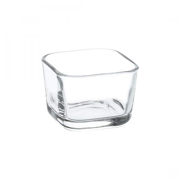 Crystal Clear Mini Small Square Dessert Bowl - 80 ML, Set of 6
