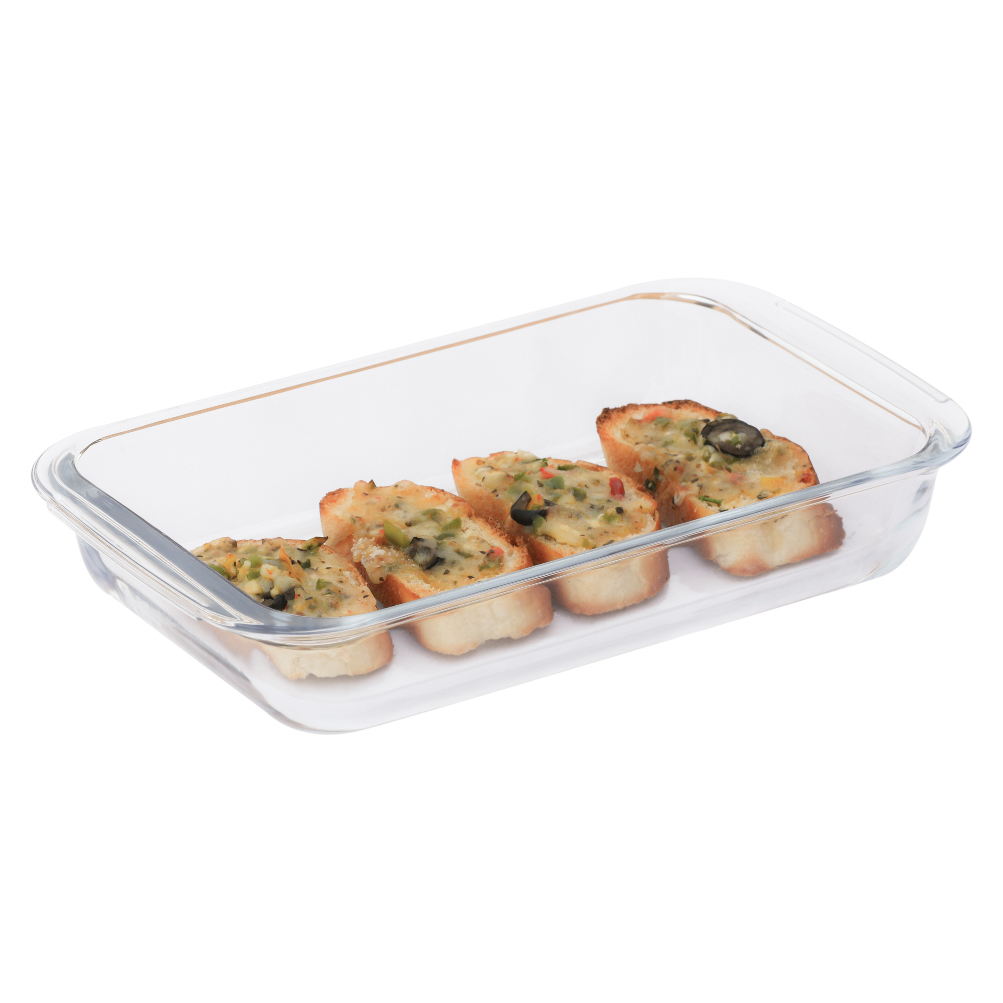 Femora Borosilicate Glass Rectangular Dish-1000ml