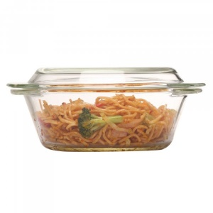Borosilicate Glass Round Casseroles-1000ml
